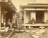 view Domestic buildings with family, 1870s. [graphic] digital asset number 1