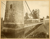 view Tokyo: Yamazato Suspension Bridge, Imperial Palace ca. 1871. [graphic] digital asset number 1