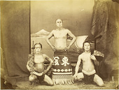 view [Wrestler and two retainers] digital asset: [Wrestler and two retainers], [graphic]