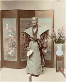 view [Elderly samurai and folding screen] digital asset: [Elderly samurai and folding screen], [graphic]