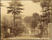 view Kyoto: Kurodani Konkaikomyoji, view toward Sanmon digital asset: Kyoto: Kurodani Konkaikomyoji, view toward Sanmon, [graphic]