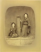 view [Two women with koto] digital asset: [Two women with koto], [graphic]