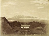 view Mt. Fuji from Yoshiwara-juku digital asset: Mt. Fuji from Yoshiwara-juku, [graphic]