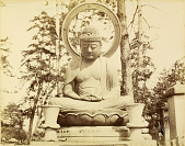 view Kyoto: Buddhist image from cemetary of Kurodani Konkaikomyoji, ca. 1877. [graphic] digital asset number 1