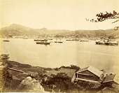 view Nagasaki: view across bay toward foreign residences digital asset: Nagasaki: view across bay toward foreign residences, [graphic]