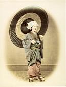 view [Woman with umbrella in studio] digital asset: [Woman with umbrella in studio], [graphic]