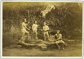 view [Four workmen], ca. 1875. [graphic] digital asset number 1