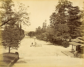 view Kyoto: Chion'in, View West toward entrance gate, 1873. [graphic] digital asset number 1