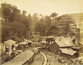 view Nagasaki: Takashima coal mine, Takashima Island 1873. [graphic] digital asset number 1