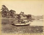 view Nagasaki: Riverbank at Inasamachi digital asset: Nagasaki: Riverbank at Inasamachi, [graphic]