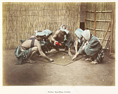 view Coolies gambling outside, [ca. 1880s]. [graphic] digital asset number 1