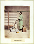 view Hair-Dressing in Japanese Style, [ca. 1875]. [graphic] digital asset number 1