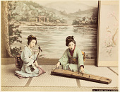 view 212 Playing koto and shamisen digital asset: 212 Playing koto and shamisen, [graphic]
