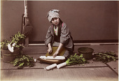 view 1041 [Woman cutting daikon], [1860 - ca. 1900]. [graphic] digital asset number 1
