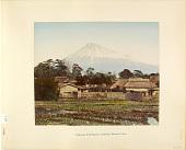 view 884 Fujiyama from Tokaido, Yoshiwara farmer's house, [1860 - ca. 1900]. [graphic] digital asset number 1