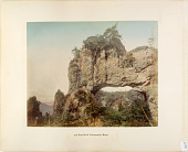 view 4th Gate Rock Nakanotake Miogo, [1860 - ca. 1900]. [graphic] digital asset number 1