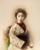 view [Portrait of a woman in a white kimono], [1860 - ca. 1900]. [graphic] digital asset number 1