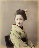 view [A woman with a green kimono], [1860 - ca. 1900]. [graphic] digital asset number 1