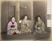 view [Three smiling women at tea], [1860 - ca. 1900]. [graphic] digital asset number 1