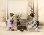 view [Two women playing Go], [1860 - ca. 1900]. [graphic] digital asset number 1