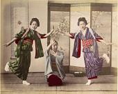 view [Three dancing women], [1860 - ca. 1900]. [graphic] digital asset number 1