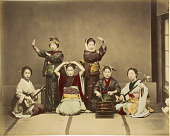 view [Six women playing music and dancing], [1860 - ca. 1900]. [graphic] digital asset number 1