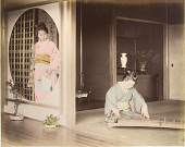 view [Woman with koto and woman with fan], [1860 - ca. 1900]. [graphic] digital asset number 1