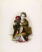 view [Woman with a drum], [1860 - ca. 1900]. [graphic] digital asset number 1