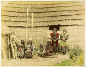view [Ainu with small children], [1860 - ca. 1900]. [graphic] digital asset number 1