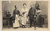 view Japanese entertainers, [1860 - ca. 1900]. [graphic] digital asset number 1