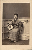 view Woman with samisen digital asset: Woman with samisen, [graphic]