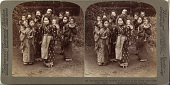 view (3) Big sisters and little brothers in the Land of the Rising Sun - Yokohama, Japan, 1904 or earlier. [graphic] digital asset number 1
