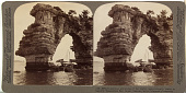 view (45) - 3884 -Stupendous sculptures of the mighty sea - rock-arch island in beautiful Matsushima Bay, Japan, 1904 or earlier. [graphic] digital asset number 1