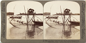 """view (46) - 3885 - A picturesque """"toiler of the sea"""" with his curious fishing net, bay of Matsushima, Japan, 1904 or earlier. [graphic] digital asset number 1"""