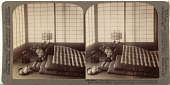 view (50) - 8889 - Girl sleeping between wadded futons, with head on a wooden support - Tea house, Hikone, Japan digital asset: (50) - 8889 - Girl sleeping between wadded futons, with head on a wooden support - Tea house, Hikone, Japan, [graphic]