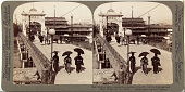 view (53) Modern improvements in an ancient city - W. over the Kamogawa at Shijo Bridge, Kyoto, Japan, 1904 or earlier. [graphic] digital asset number 1