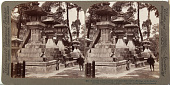 view (83) Beautiful stone lanterns at Sumiyoshi - votive offerings to the Gods of the Sea, (north) Osaka, Japan, 1904 or earlier. [graphic] digital asset number 1