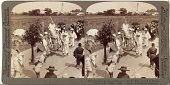 view (85) Impressive funeral procession of a rich Buddhist, on road to Sakai looking N.E. to Osaka, Japan, 1904 or earlier [graphic] digital asset number 1