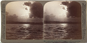 view (88) A silvery path over the Inland Sea - looking north from a boat off the Harima shore, Japan, 1904 or earlier. [graphic] digital asset number 1