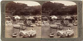 view (89) Fishing village of Obatake on the Inland Sea - looking north to the terraced rice fields , Japan, 1904 or earlier. [graphic] digital asset number 1