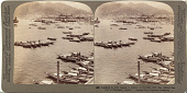 view (99) Looking N. over vessels in harbor to fortified hills that defend the port of Nagasaki, Japan, 1904 or earlier. [graphic] digital asset number 1