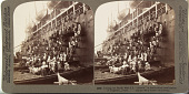 """view Coaling the Pacific Mail S.S. """"Siberia"""" at the fortified naval station of Nagasaki, Japan, 1904 or earlier. [graphic] digital asset number 1"""