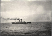 view S.S Siberia photographed from the S.S. Manchuria. 1905 digital asset number 1
