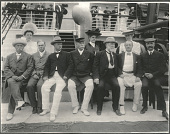 view Senators and their wives aboard the SS Manchuria. 1905 digital asset number 1