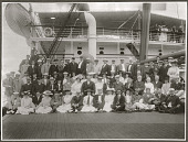 view Members of Taft Diplomatic Mission aboard the SS Manchuria. 1905 digital asset number 1