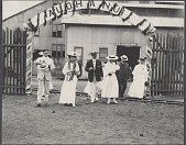 view Hawaii: Alice Roosevelt, Nicholas Longworth, and others at Lugan Mill. 1905 digital asset number 1