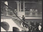 view Hawaii: onlookers watch Alice Roosevelt ascend a staircase digital asset: Hawaii: onlookers watch Alice Roosevelt ascend a staircase