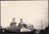 view Yokohama: William Taft and Alice Roosevelt riding in carriage with US Ambassador Lloyd Griscom digital asset: Yokohama: William Taft and Alice Roosevelt riding in carriage with US Ambassador Lloyd Griscom