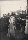 view Yokohama: Alice Roosevelt greeted by Japanese dignitaries digital asset: Yokohama: Alice Roosevelt greeted by Japanese dignitaries