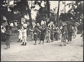 view Japanese children parading with American and Japanese flags. July 25, 1905 digital asset number 1